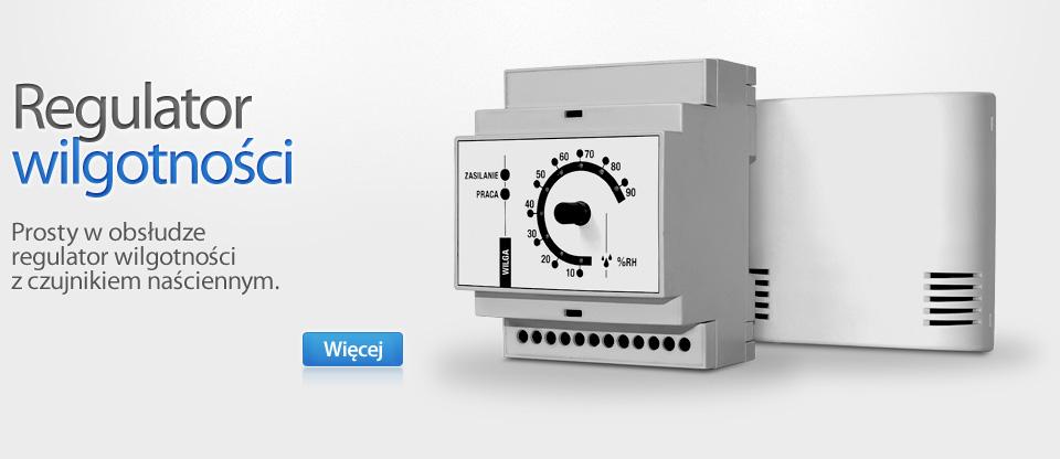 MAKSTER W. Kontrola wilgotności. Sterownik MAKSTER W jest doskonałym rozwiązaniem w sytuacjach, gdy niezbędne jest sterowanie wentylacją w zależności od poziomu wilgotności.